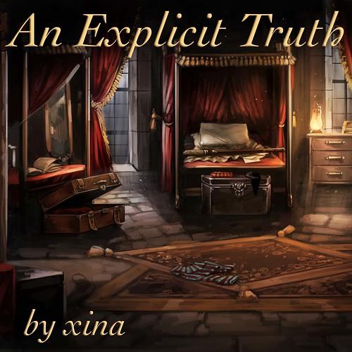 Griffondor dorm, captioned An Explicit Truth, by Tina