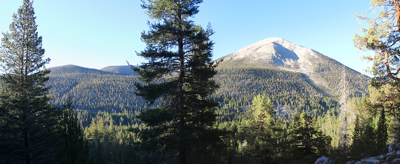 As we climbed higher, north of Rock Creek on the PCT, we could see Mount Anna Mills to the southwest