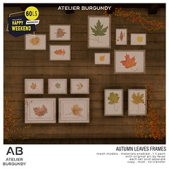 Atelier Burgundy . Autumn Leaves