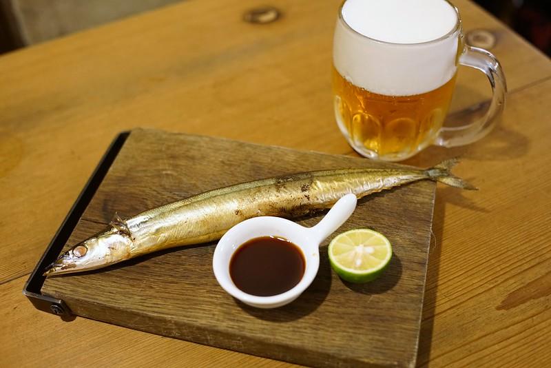 SARU BACON_秋刀魚の燻製