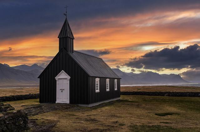 Black church. ICELAND