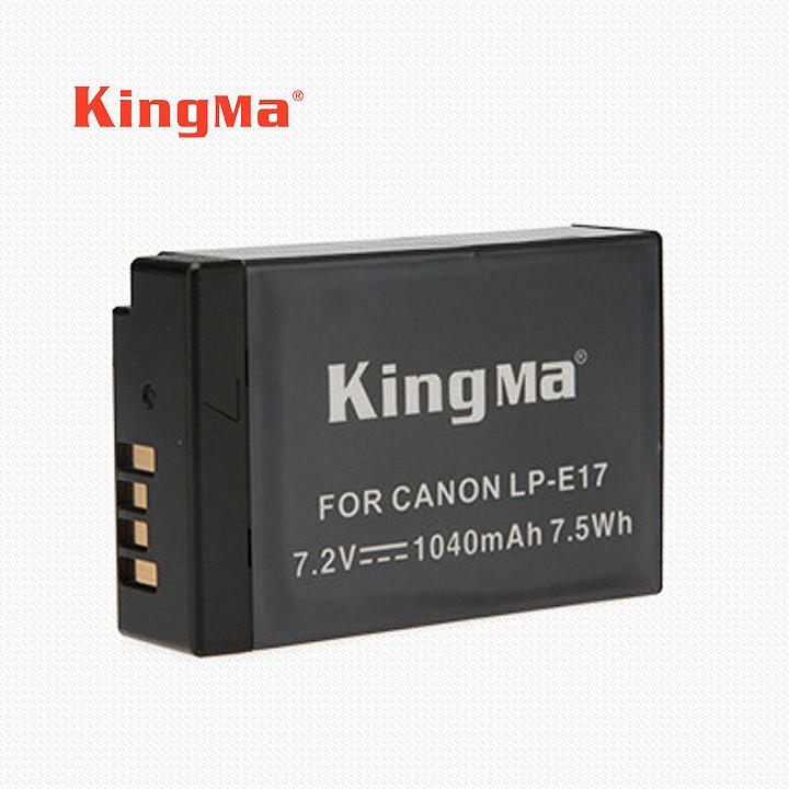 Pin sạc LP-E17 máy ảnh Canon EOS M3 M5 M6 750D 760D 800D KingMa 1040 mAh