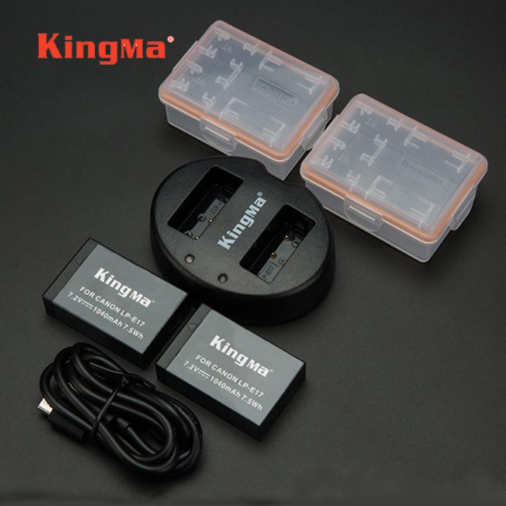 Đốc sạc + 2 pin sạc LP-E17 cho Canon EOS 760D 800D – KingMa chính hãng