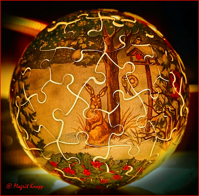 Weihnachtspuzzleball - Christmas puzzle ball