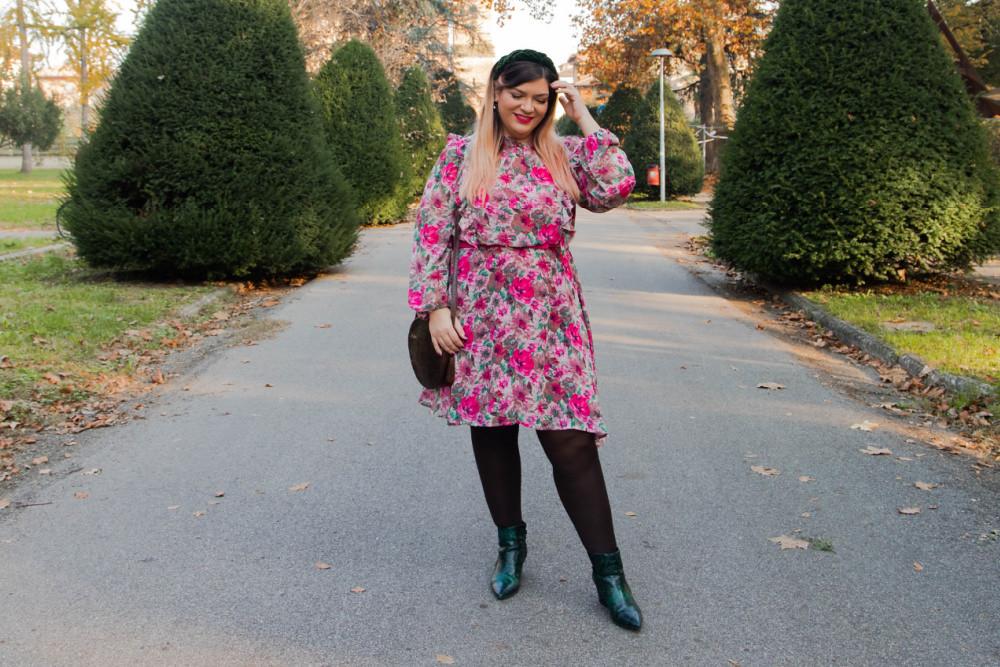 outfit curvy plus size SHEIN abnito fiorata (10)