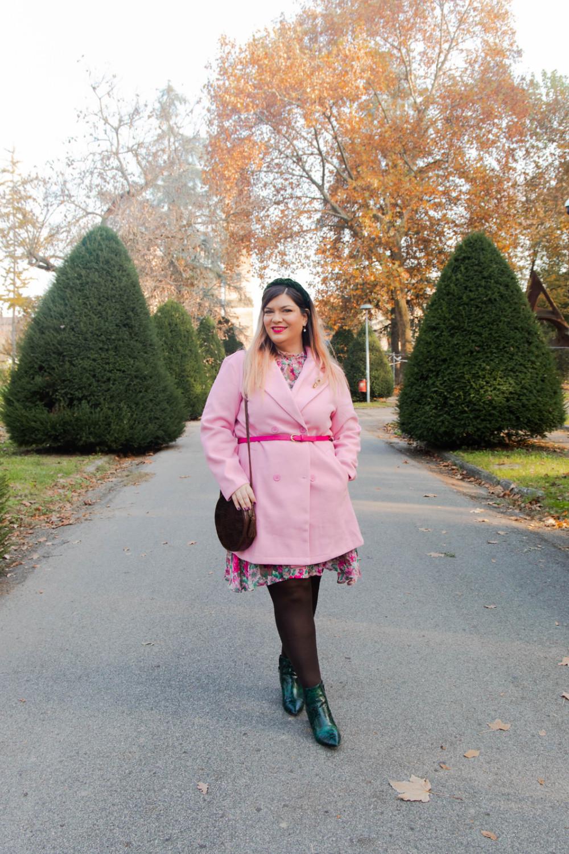 outfit curvy plus size SHEIN abnito fiorata (6)