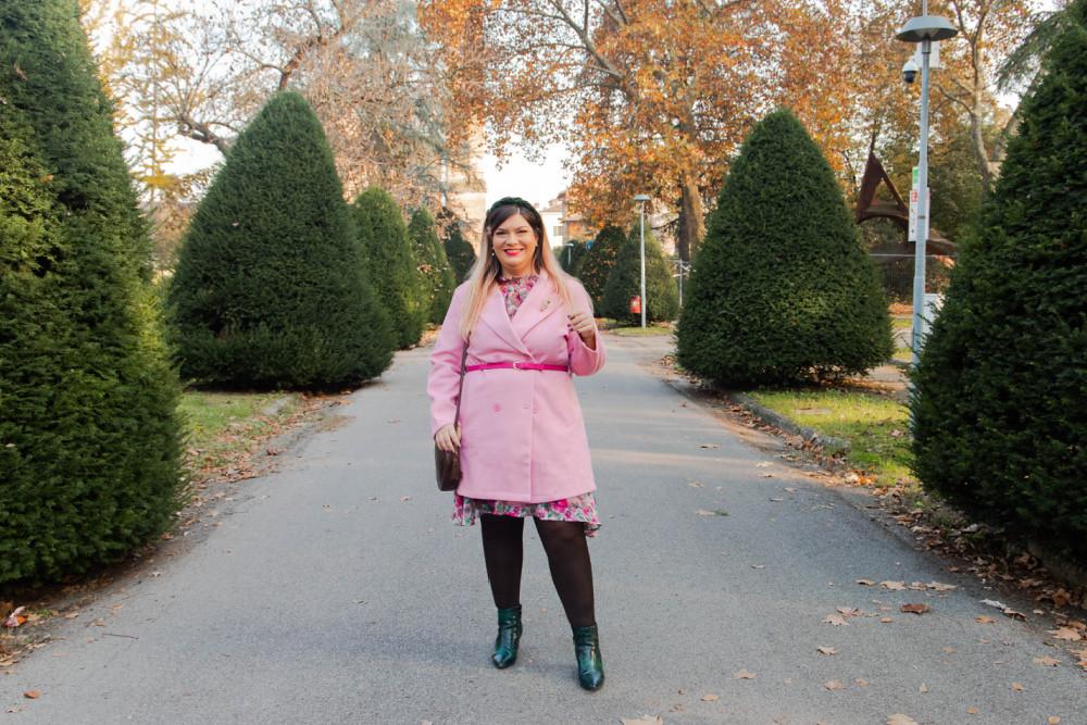 outfit curvy plus size SHEIN abnito fiorata (3)