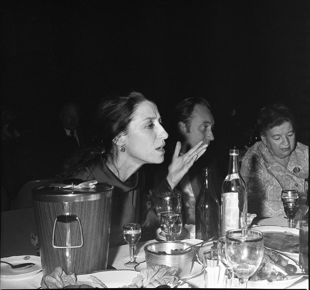1972. Балерина Майя Плисецкая и композитор Родион Щедрин на банкете в гостинице «Интурист» в честь открытия выставки из собрания А. Хаммера в Музее изобразительных искусств им. А.С. Пушкина