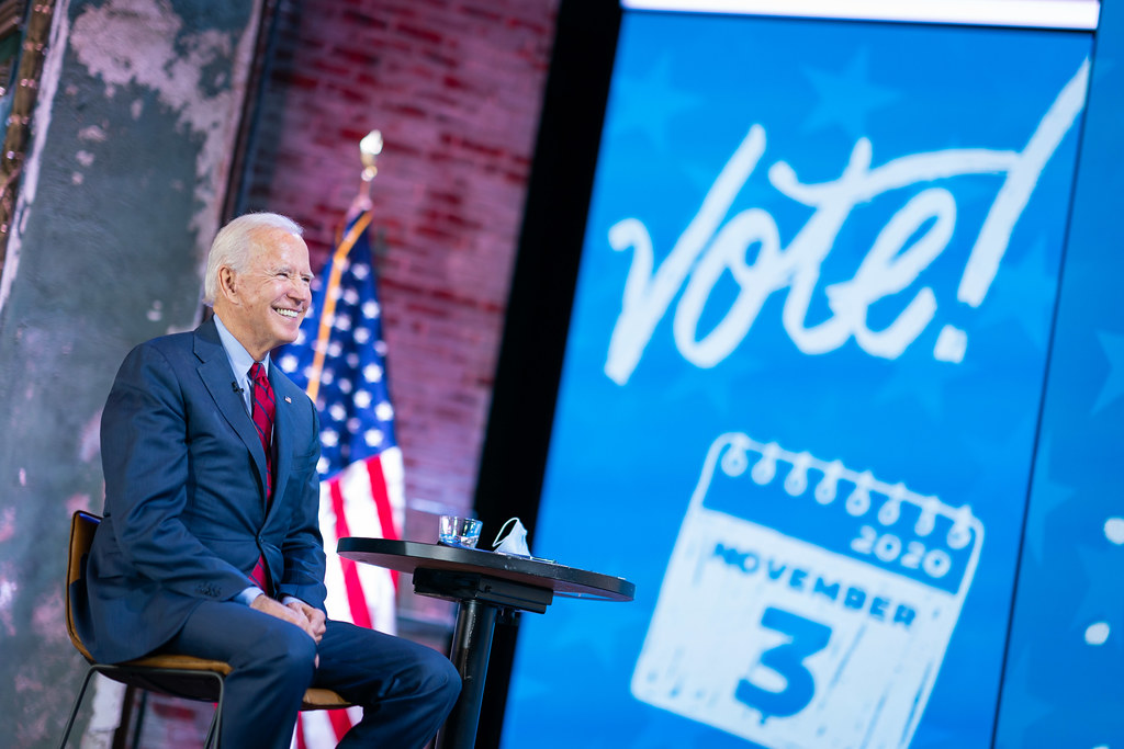 美國新任總統拜登(Joe Biden)。圖片來源:Joe Biden(CC BY-NC-SA 2.0)。