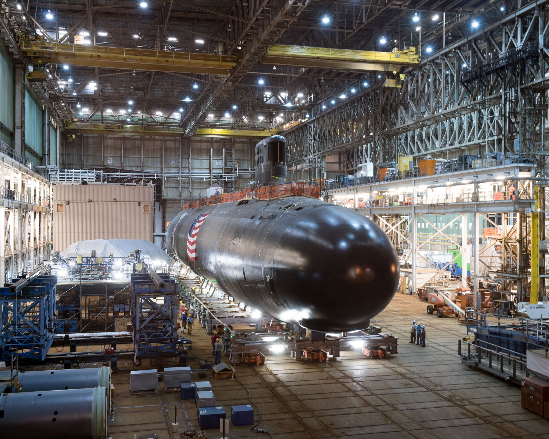 Virginia-class submarine under construction