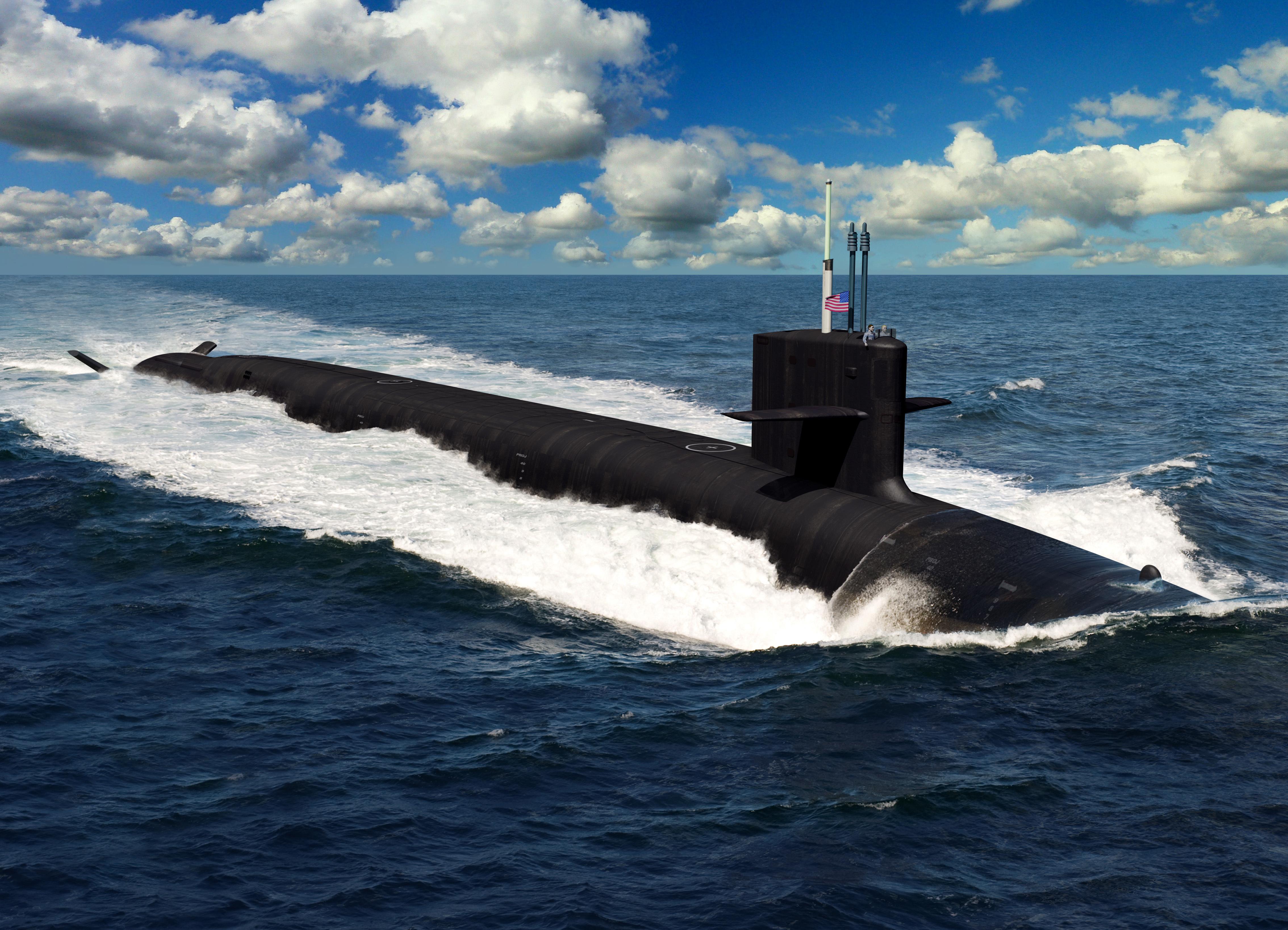 Artist rendering of the Columbia-class submarine.
