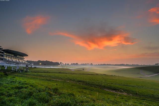 Misty Morning over Epsom racecourse