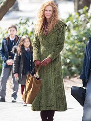 The Undoing Nicole Kidman Green Coat - 40% OFF