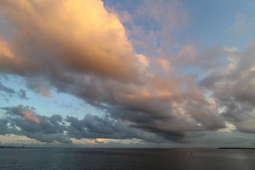 ichikawa chiba japan clouds cloud sunset tokyobay sea water sky
