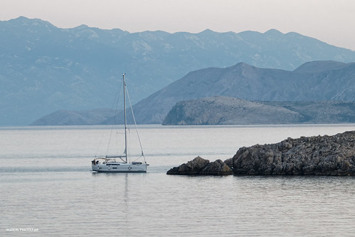 yacht boat ship landscape seascape rocks canon adriatic hrvatska europe