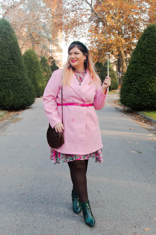 outfit curvy plus size SHEIN abnito fiorata (7)
