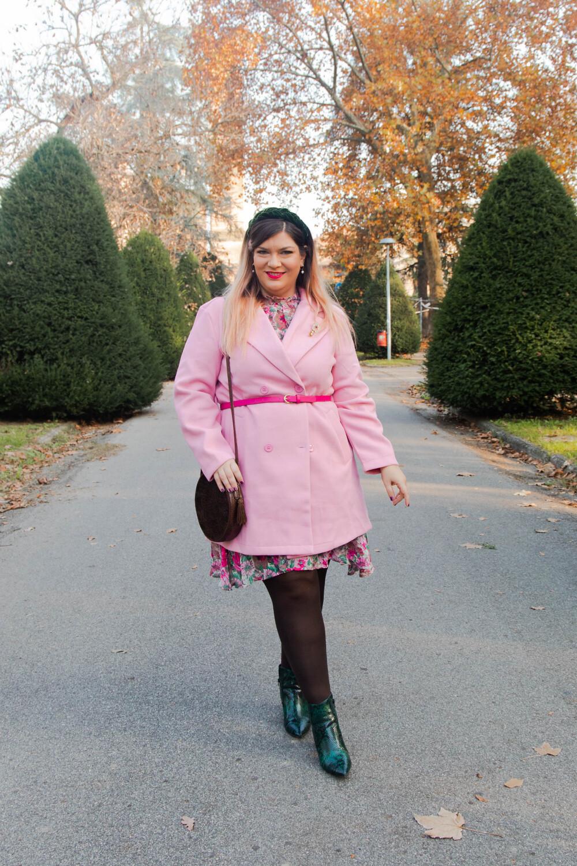 outfit curvy plus size SHEIN abnito fiorata (5)