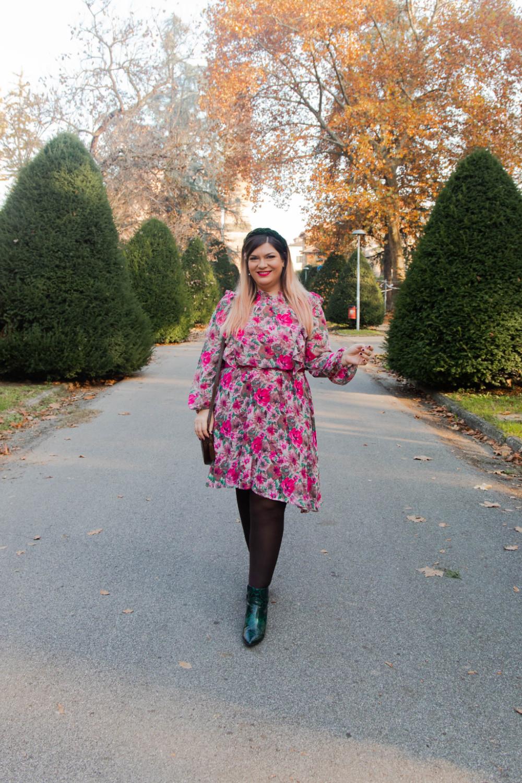outfit curvy plus size SHEIN abnito fiorata (2)