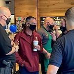 Deputy Mayor Lipani at Coffee with a Cop