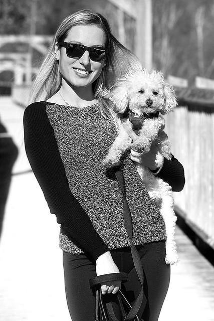 Pretty Girl and Her Pooch