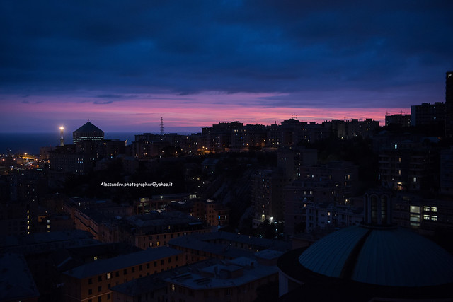 Pink and blue (Genoa - Italy)