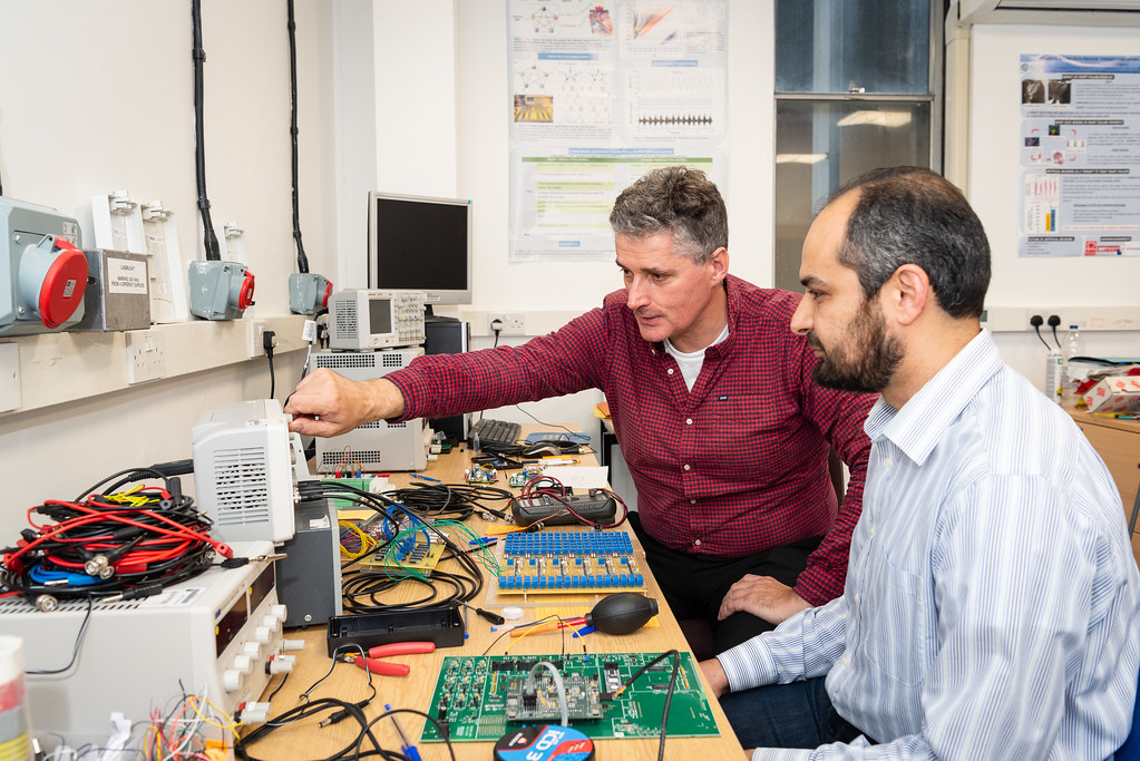 Alain Nogaret and Kamal Abu Hassan in the Department of Physics.