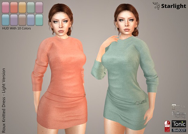 :: SA :: Roux – Knitted Dress with HUD – Light Version