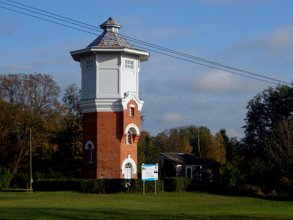 Станция Ристи. Водонапорная башня.
