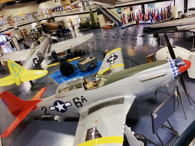 USAF Armament Museum 2020, museum floor displays 3
