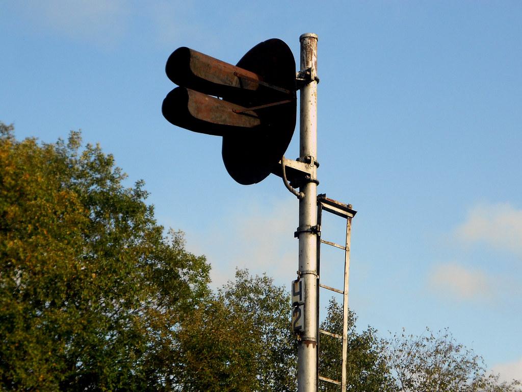 Станция Ристи. Выходной светофор.