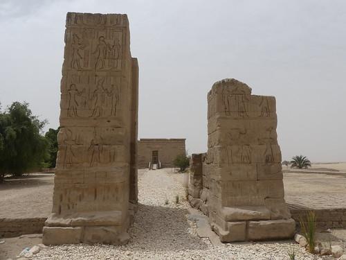 Temple of the goddess Isis at Deir el-Shelwit, propylon