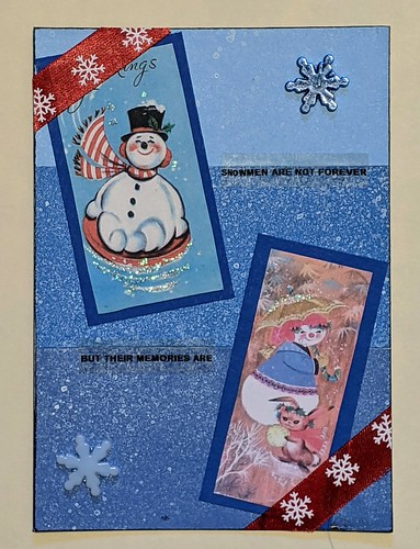 5x7 Journal Page for a Snowman Themed Swap. | by HollyBear81