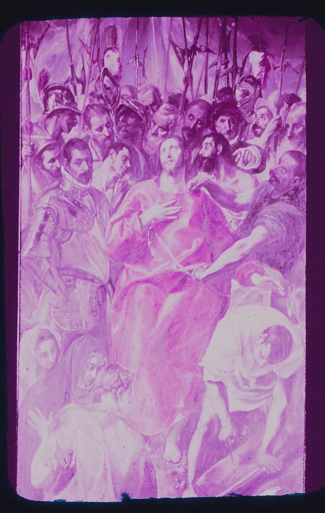 El Expolio del Greco en la Catedral de Toledo hacia 1965. Diapositiva incluida en el Librofilm Aguilar dedicado a la ciudad en ese año. Colección personal de Eduardo Sánchez Butragueño.