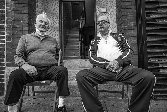 Two old italian pals at Boston Italian district