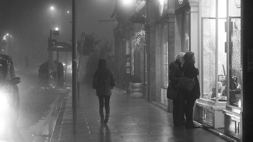 Window Shopping on a Misty Night