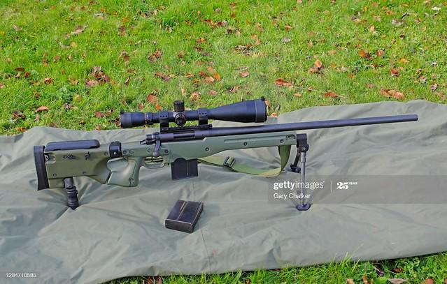 A 7.62×51mm NATO sniper rifle.