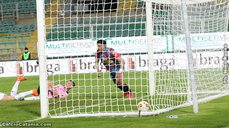 Il gol del pareggio firmato da Pecorino