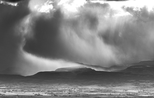 Stormy weather on the Uncompahgre Plateau
