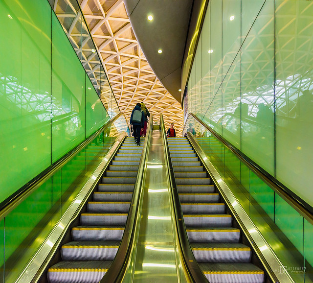 Stairway To Greenlight - King's Cross Railway Station, London, UK