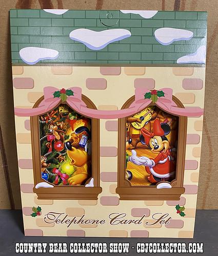 Tokyo Disneyland Christmas Phone Card Set - CBCS #285