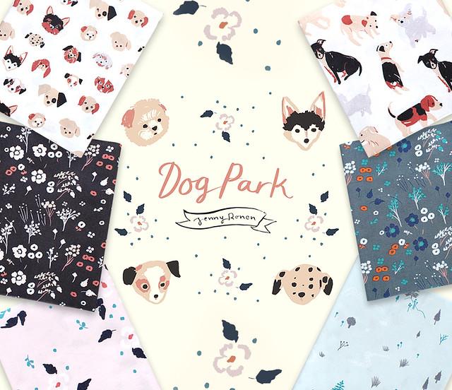 Birch Fabrics Dog Park Collection by Jenny Ronen