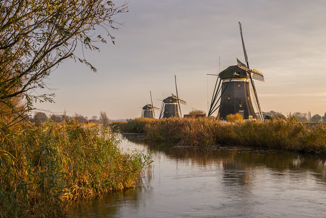 The Three Windmills / De Drie Molens, Leidschendam, Holland