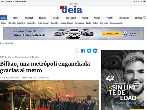 Bilbao, una metrópoli enganchada gracias al Metro