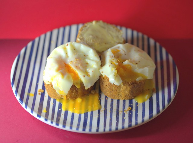 Runny Poached Eggs