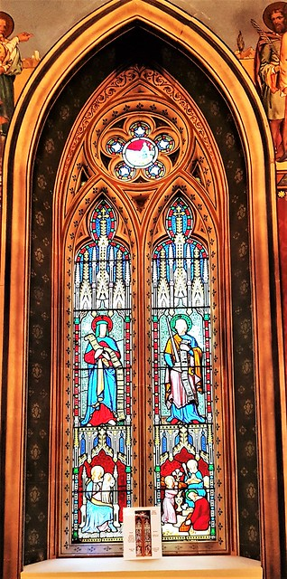Gloucestershire, Highnam Church - Stained glass window.
