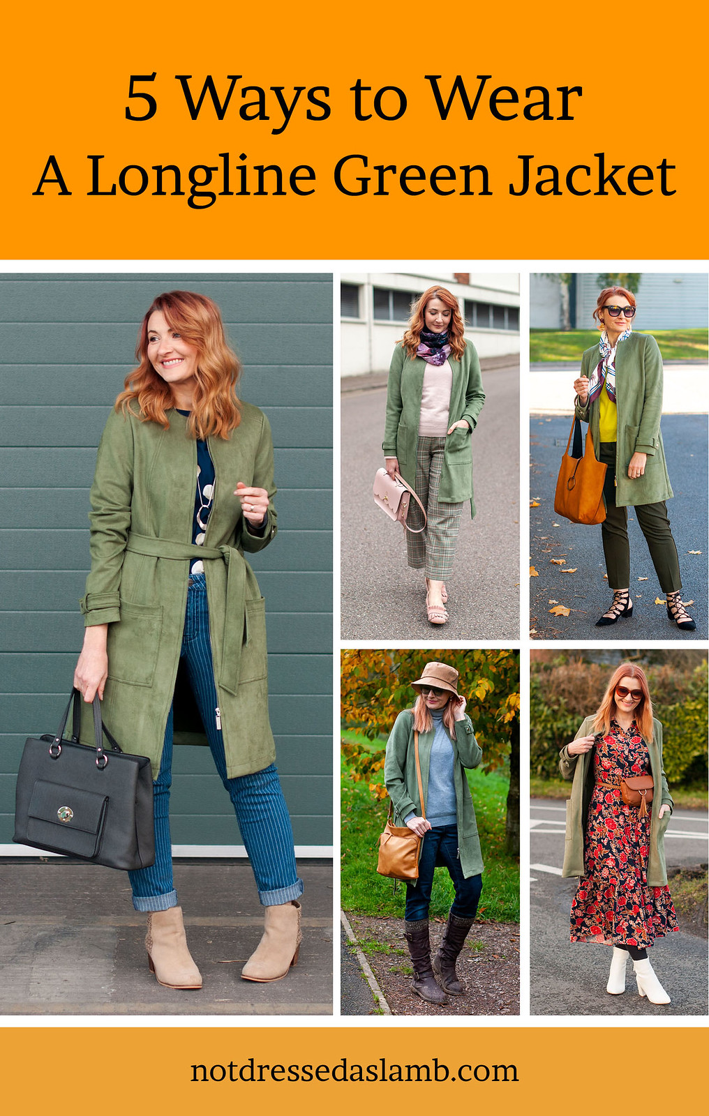 5 Ways to Wear an Olive Green Longline Jacket | Not Dressed As Lamb, Over 40 Style
