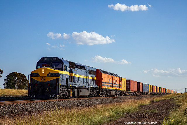 C & CLF class on SBR/SCT Dooen Freight near Nth Shore on 10/11/2020.