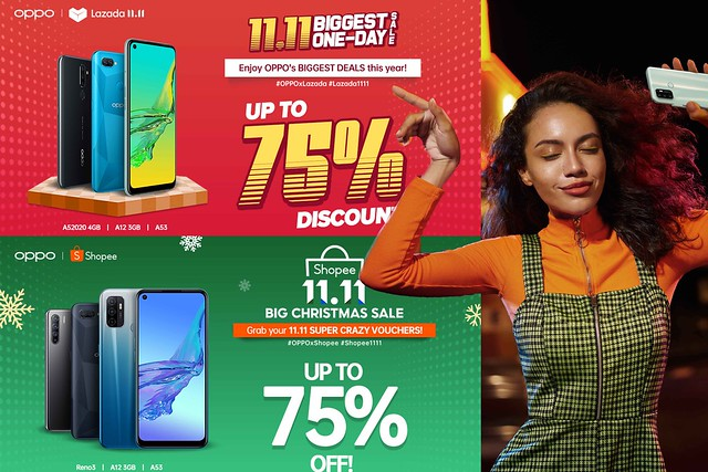 It is Raining OPPO Vouchers and Freebies on 11.11