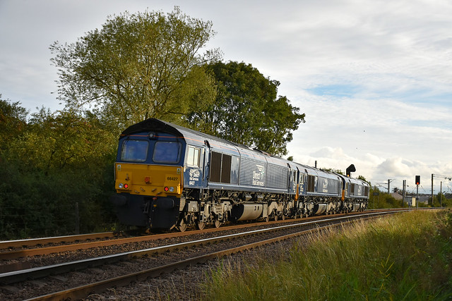 66427 + 66304 + 66303 - Ely North Junction - 03/09/20.