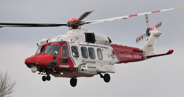 HM Coastguard AW.189 G-MCGX at St Athan.